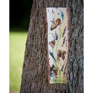 Handpainted Roof Tile with Butterflies
