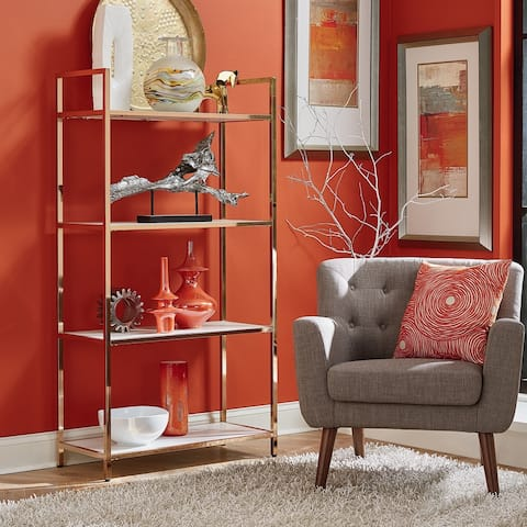 Silver Orchid Arbuckle Glossy White Bookcase