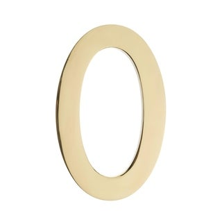 5 inch Floating House Number Polished Brass