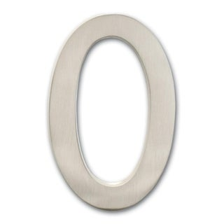 5 inch Floating House Number Satin Nickel