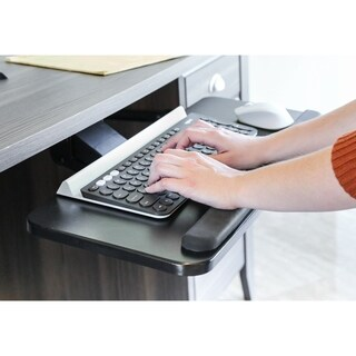 Seville Classics AIRLIFT® 360 Adjustable Under-the-Desk Ergonomic Keyboard Tray