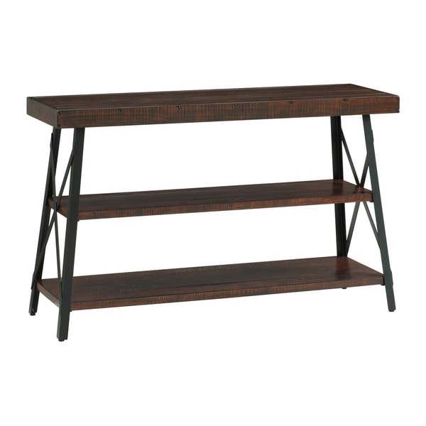 Industrial Wood Coffee Table Distressed Designs: Shop Martin Svensson Home Xavier Rustic Industrial