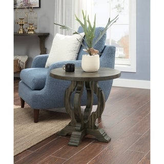 """Somette Orchard Brown Orchard Park Round Accent Table - 24""""L x 24""""W x 24""""H"""