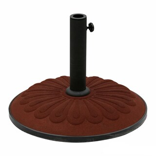 International Caravan Textured Resin Sunflower Umbrella Base