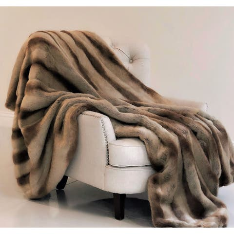 Sheared Faux Chinchilla Luxury Throw