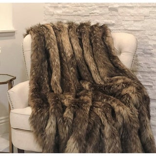 Mountain Coyote Handmade Luxury Throw - throw 36w x 60l
