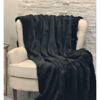Black Mink Faux Fur Luxury Throw