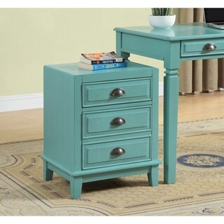 Somette Bayberry Blue Two Drawer File Box