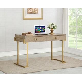 Somette Wheaton Brown Two Drawer Desk