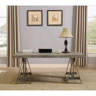 "Somette Biscayne Weathered Adjustable Dining Table / Desk - 63""W x 31.5""L x 30""H"