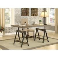Somette Camden Distressed Brown Adjustable Dining Table / Desk