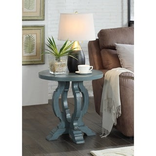 Somette Orchard Blue Rub Orchard Park Accent Table
