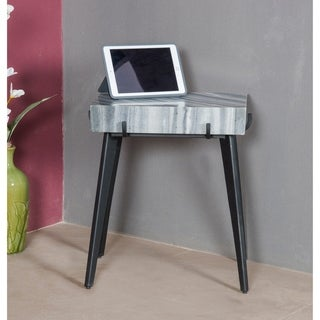 "Somette Grey and Black Accent Table - 20""L x 14""W x 22""H"