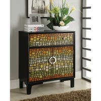 Somette Mosaic Mutlicolor One Drawer, Two Door Cabinet