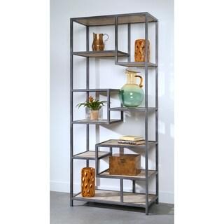 Somette Bodhan Whitewash Mango Tall Bookcase