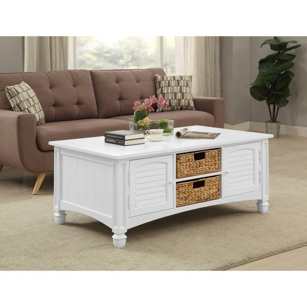 Overstock White Coffee Table.Shop Somette Harbor Towne White Cocktail Table Free Shipping Today