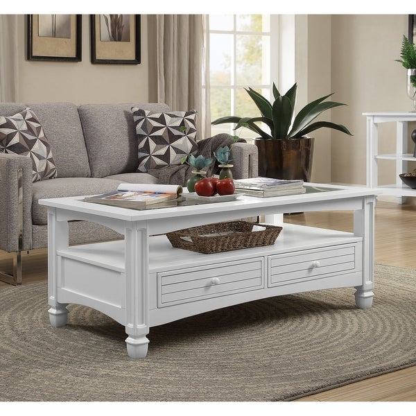 Overstock White Coffee Table.Shop Somette Bayside White Cocktail Table Free Shipping Today