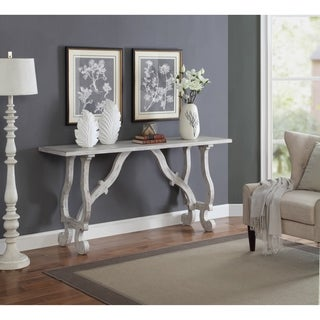 Somette Orchard White Rub Console Table