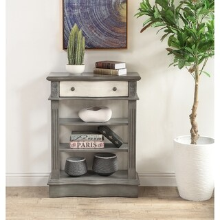 Somette Huron Grey and Cream One Drawer Bookcase