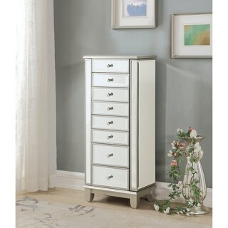 Somette Elsinore Champagne Two Door Seven Drawer Jewelry Armoire