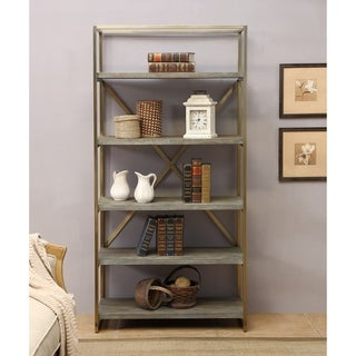 Somette Biscayne Weathered Bookcase