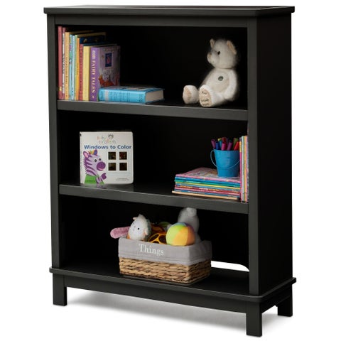 Delta Children Universal 3-Shelf Bookcase, Black