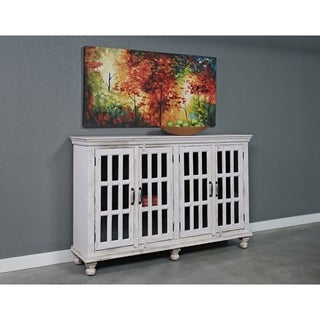 Somette Kundara White Rub Four Door Credenza