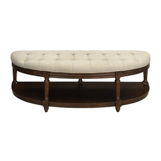 Somette Winslow Brown Demilune Accent Bench