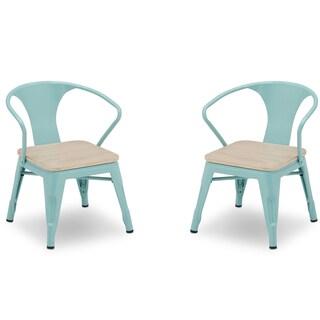 Delta Children Bistro 2-Piece Chair Set, Black with Driftwood