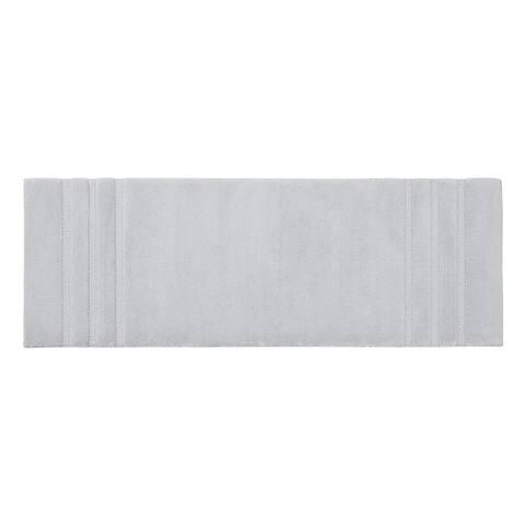 Madison Park Signature Stria Border Stripe Marshmallow Bath Rug