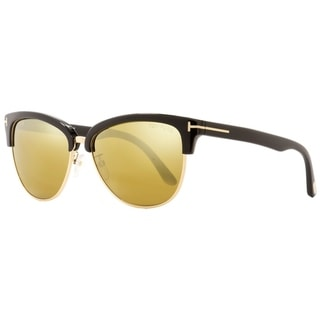 Link to Tom Ford TF368 Fany 01G Womens Black/Gold 59 mm Sunglasses Similar Items in Women's Sunglasses
