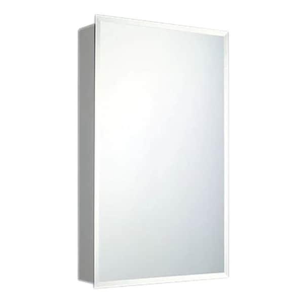Ketcham Cabinets Deluxe Series Single Door Medicine Cabinet Beveled Edge  Mirror   Recessed Mount