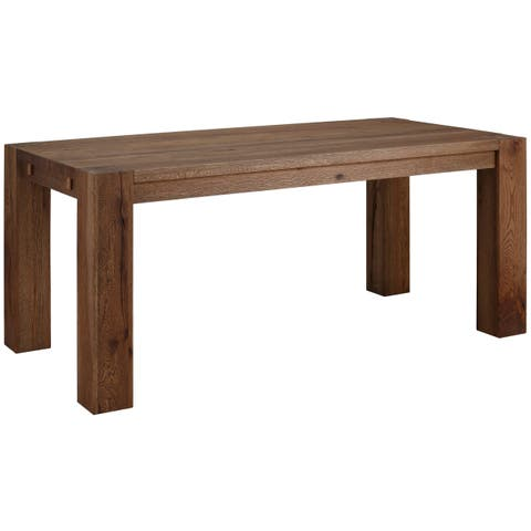 Matrix 87-inch Wild Oak Dining Table, Smoked