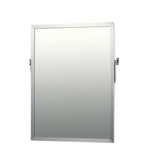 Ketcham Cabinets Stainless Steel Framed Adjustable Tilt Mirror - 18X36