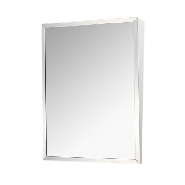 Shop Ketcham Cabinets Stainless Steel Framed Fixed Tilt Mirror ...