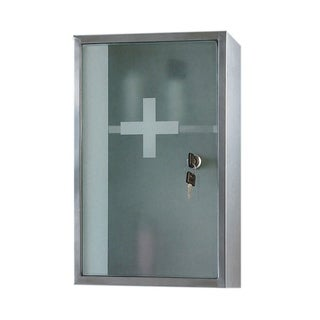 Ketcham Cabinets Locking Medicine Cabinet with Rust Resistant Finish - 9.75x15.75