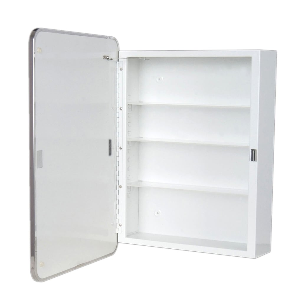 Ketcham Cabinets Surface Mounted Round Corner Medicine Cabinet Left Hand Hinge 16x28 Free Shipping Today 22169694