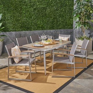Manchester Outdoor Aluminum 7 Piece Dining Set With Gl Table
