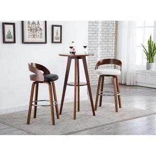 Porthos Home Bar/Counter Stools, Leather Upholstery ,set of 2