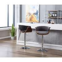 Porthos Home Bar/Counter Stools, Fabric Upholstery & Adjustable Height