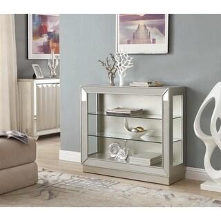 Somette Elsinore Champagne Mirrored Curio Cabinet