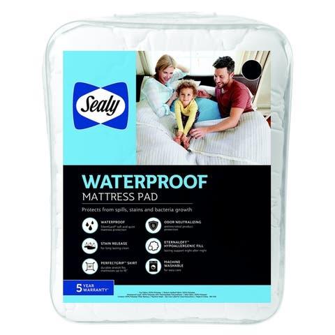 Sealy Waterproof Mattress Pad - White