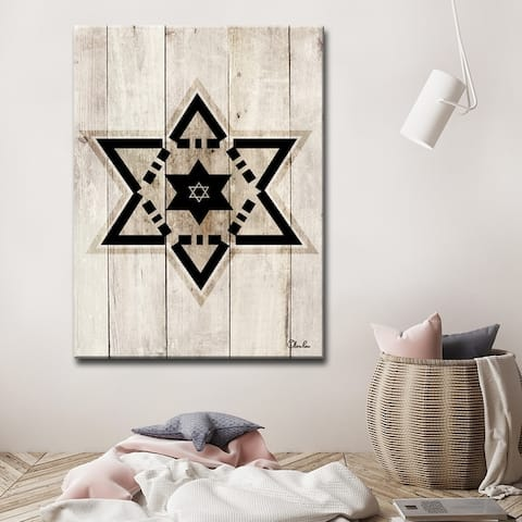 Olivia Rose Inspirational 'Star of David VIII' Wrapped Canvas Judaica Wall Art
