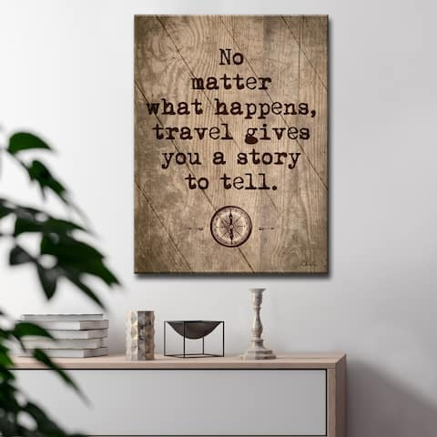 Olivia Rose Inspirational 'Travel' Wrapped Canvas Textual Wall Art