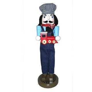 Santa's Workshop Train Conductor Nutcracker