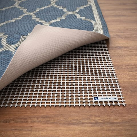 Non Slip Rug Pad- Rubber Non Skid Gripper for Area Rugs on Hard Surfaces Trim to Fit Windsor Home