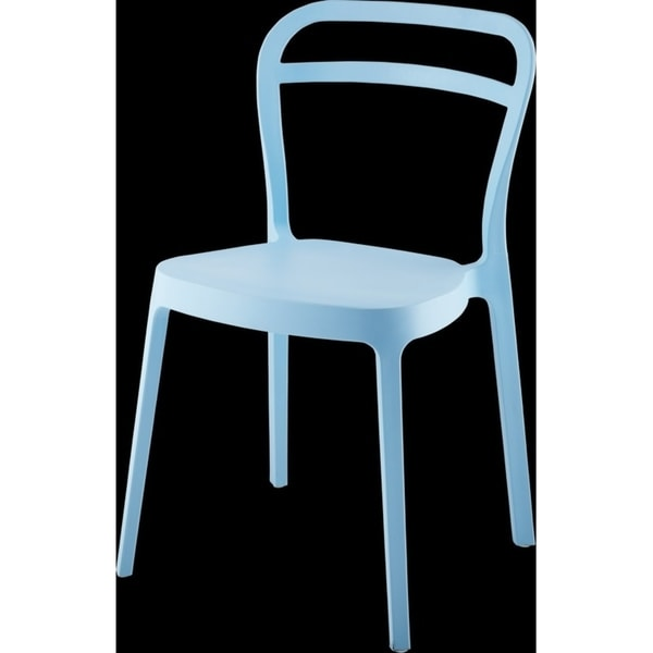 Mono Modern Stackable Dining Chair Blue