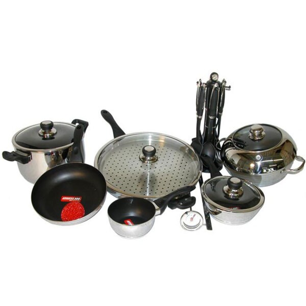 Shop Ultrex Vantage 20 Piece Nonstick Cookware Set Free Shipping