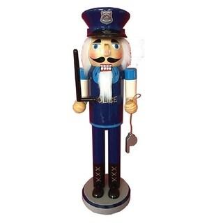 Santa's Workshop Policeman Nutcracker