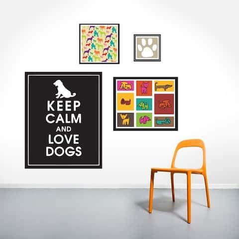 Dog Love Printed Wall Decal Set